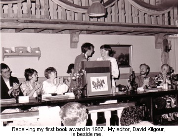 Receiving my  first literary award