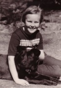 Kit,  age 9, with Peggy