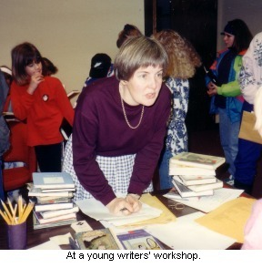 at a young writers' workshop